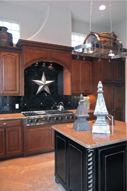 Golden Scroll eclectic-kitchen