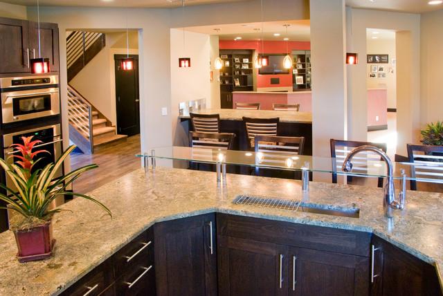 Golf Course Home contemporary-kitchen