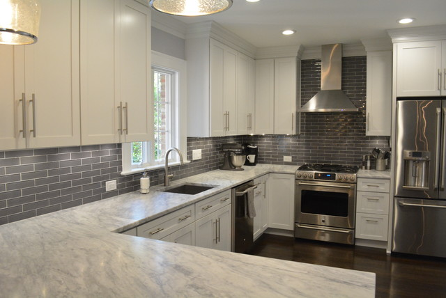 Modern Grey And White Kitchens gorgeous gray & white kitchen - modern - kitchen - richmond -