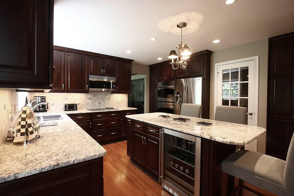 Dark Cabinets Light Granite Houzz