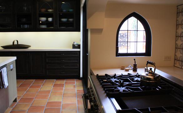 Gothic Arch Window made w/Vertical Grain Douglas Fir, Stain Grade mediterranean-kitchen