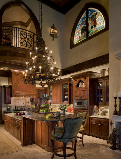 Gothic castle in the blue ridge mountains traditional Kitchen screensaver