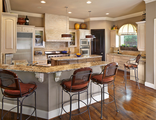 Gourmet chef 39 s kitchen traditional kitchen dallas Gourmet kitchen plans