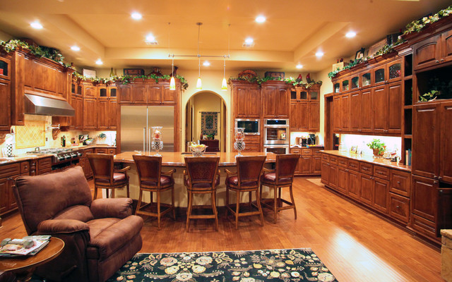 Gourmet kitchen mediterranean kitchen austin by for Gourmet kitchen designs