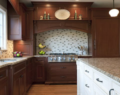 Gourmet Mahogany Kitchen traditional kitchen