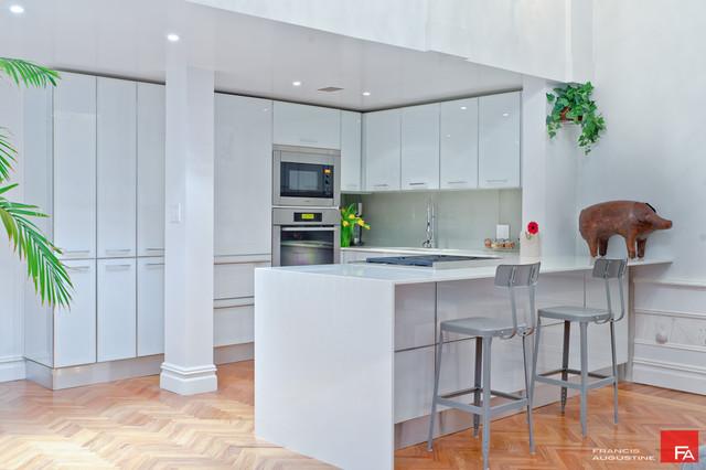 Gramercy Loft White Modern Kitchen Modern Kitchen