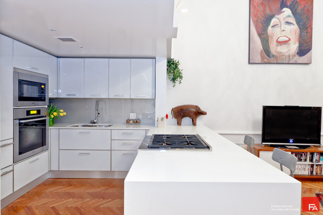 Gramercy Loft white modern kitchen modern kitchen