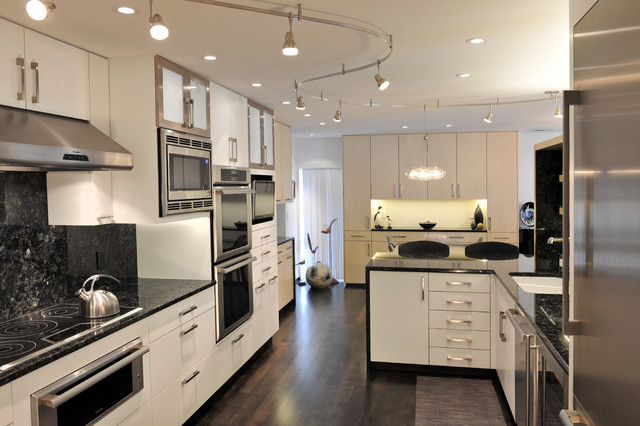 track lighting kitchen. Grand Condo Contemporary-kitchen Track Lighting Kitchen U