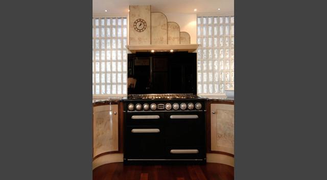 Grand designs art deco contemporary kitchen london for Modern art deco kitchen design