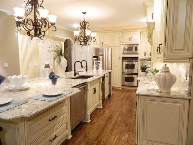 Grand Kitchen Transformation traditional-kitchen