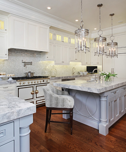 kitchens by design la grand kitchen with two islands amp la cornue range 376