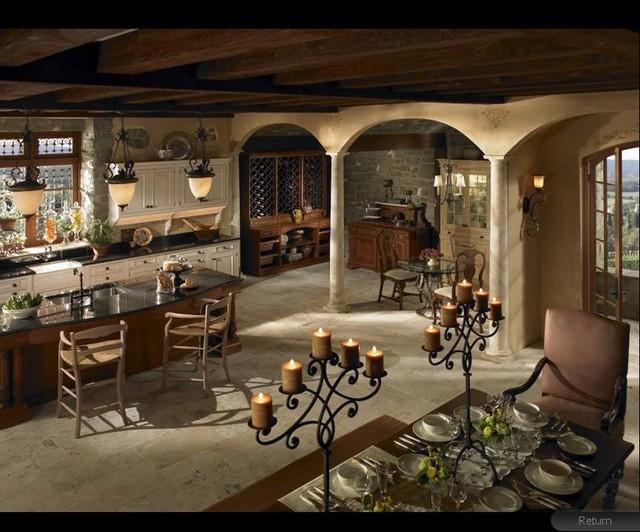 Grand Villa mediterranean-kitchen