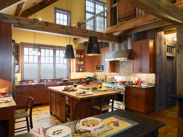 Grandview Farm rustic-kitchen