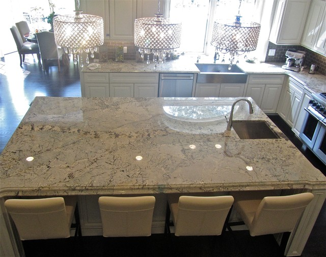 Granite And Engineered Quartz Countertops Traditional