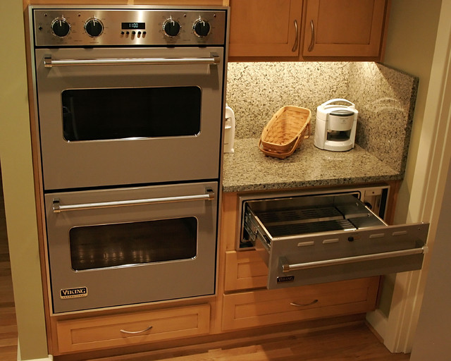 Kitchen With Two Ovens ~ Double oven warmer contemporary kitchen richmond