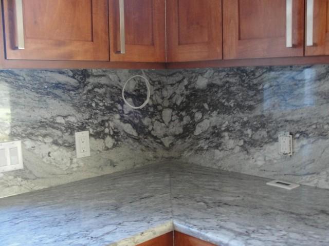 Granite and Quartz tops traditional-kitchen