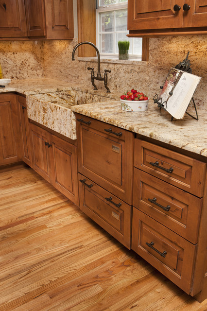 Granite A Front Sink Traditional Kitchen
