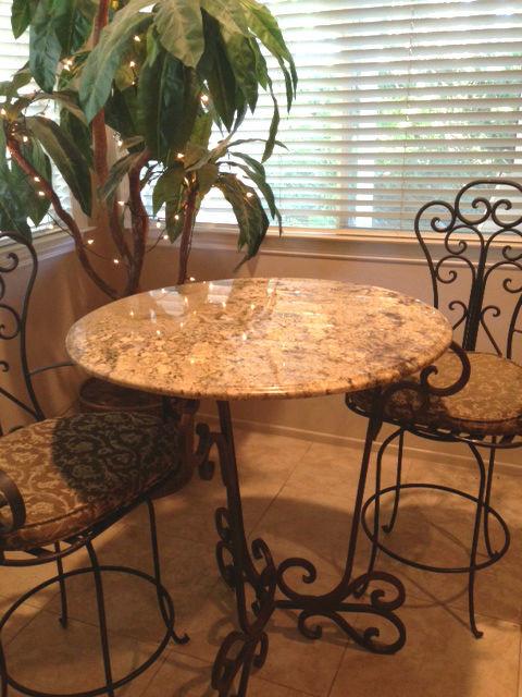 Granite Bar And Table Tops Mediterranean Kitchen San