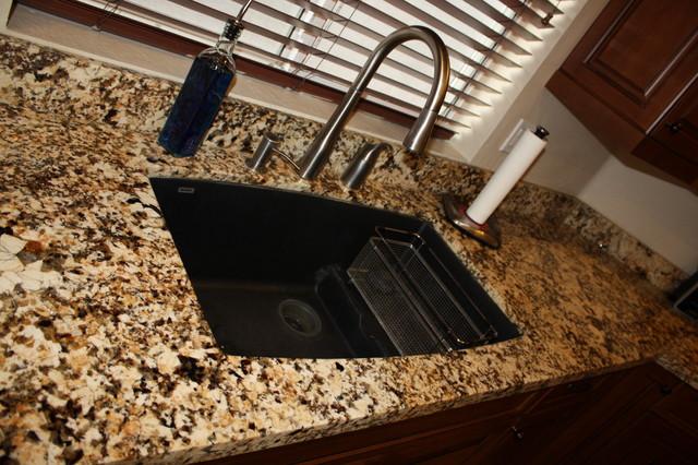 Granite Countertop Undermount Sink American Traditional Kitchen