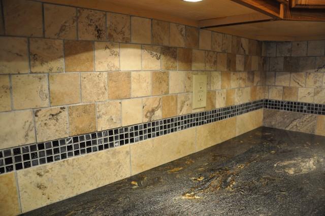 Granite or tile backsplash