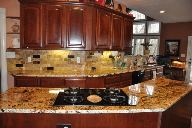 Backsplashes For Kitchens With Granite Countertops Granite Countertops And Tile Backsplash Ideas  Eclectic  Kitchen .