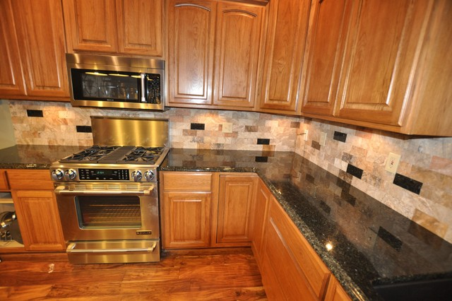 Bon Granite Countertops And Tile Backsplash Ideas Eclectic Kitchen