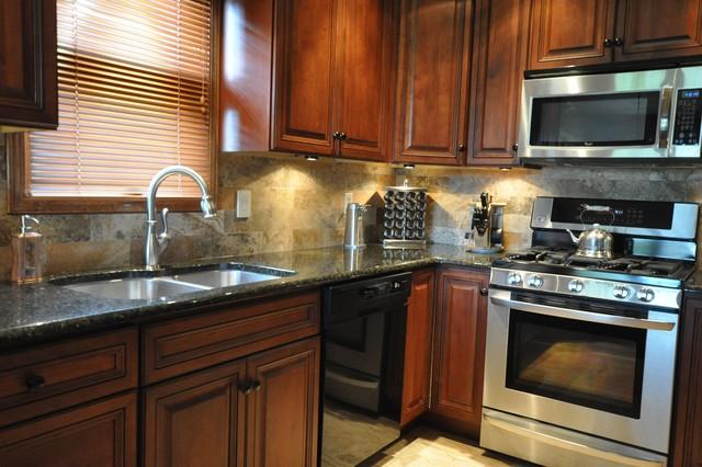 Granite Countertops and Tile Backsplash Ideas - Eclectic ... on Granite Countertops With Backsplash Ideas  id=54235