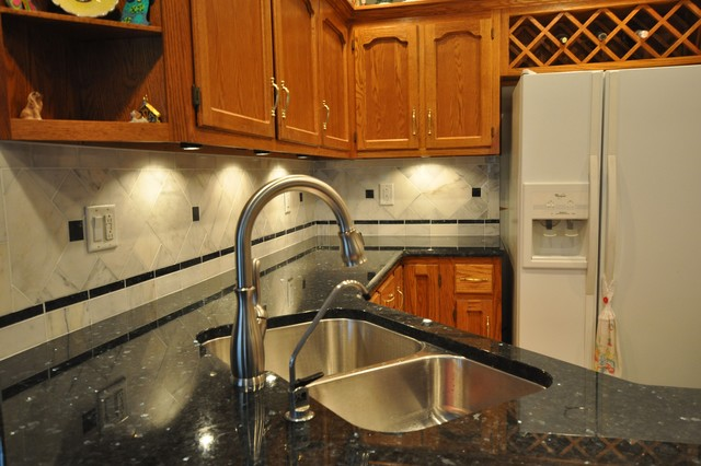 Granite Countertops and Tile Backsplash Ideas - eclectic - kitchen ...
