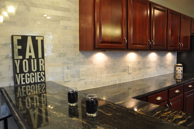 Granite Countertops and Tile Backsplash Ideas - Eclectic ... on Backsplash Ideas For Granite Countertops  id=40638