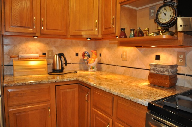 granite countertops and tile backsplash ideas eclectic kitchen - Granite Countertops With Backsplash