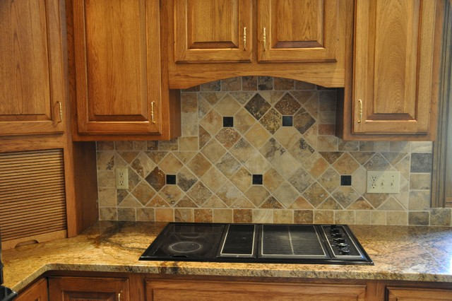 Cool Granite Countertops And Tile Backsplash Ideas Eclectic Download Free Architecture Designs Licukmadebymaigaardcom
