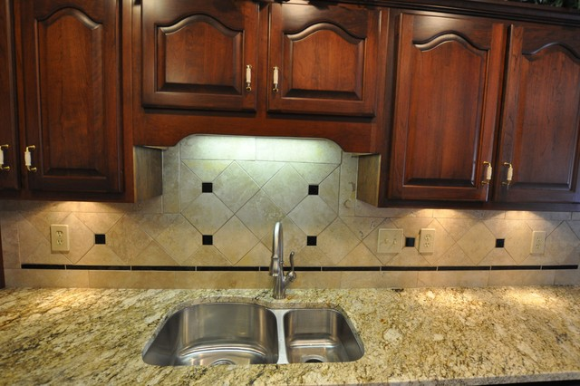 Granite Countertops and Tile Backsplash Ideas - Eclectic ... on Backsplash Ideas For Granite Countertops  id=39973