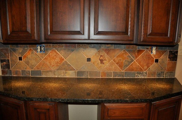 Granite Countertops and Tile Backsplash Ideas - Eclectic ... on Backsplash Ideas For Granite Countertops  id=11487