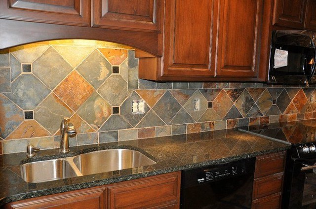 Granite Countertops and Tile Backsplash Ideas - Eclectic ... on Backsplash Ideas For Granite Countertops  id=67776