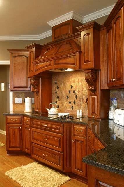 Granite Countertops and Tile Backsplash Ideas - Eclectic - Kitchen ...