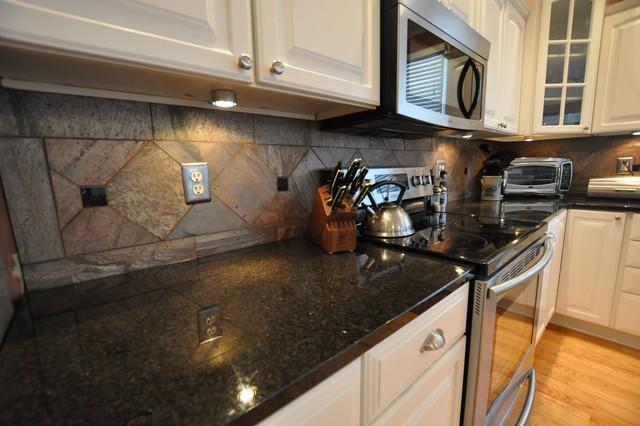 Granite Countertops and Tile Backsplash Ideas - Eclectic ... on Kitchen Backsplash Backsplash Ideas For Granite Countertops  id=45743