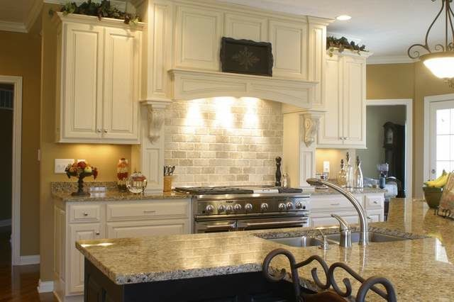 Granite countertops and tile backsplash ideas eclectic for Kitchen backsplash images on houzz