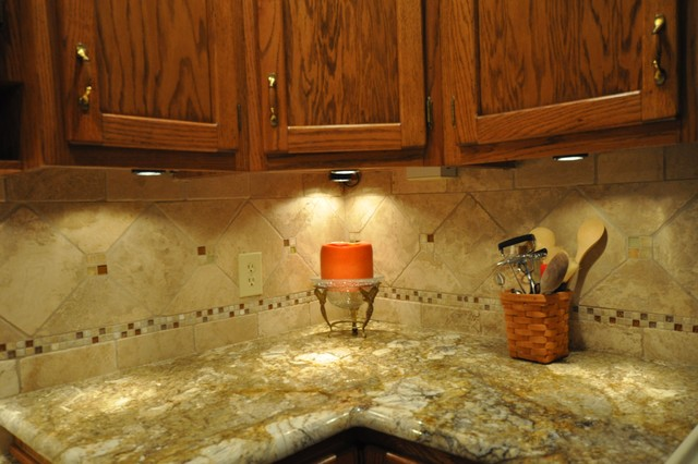 Granite Countertops and Tile Backsplash Ideas - Eclectic ... on Backsplash Ideas For Granite Countertops  id=14635