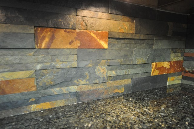 Granite Countertops and Tile Backsplash Ideas eclectic-kitchen