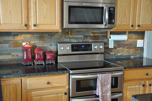 Granite Countertops and Tile Backsplash Ideas - Eclectic ... on Backsplash Ideas For Granite Countertops  id=17149