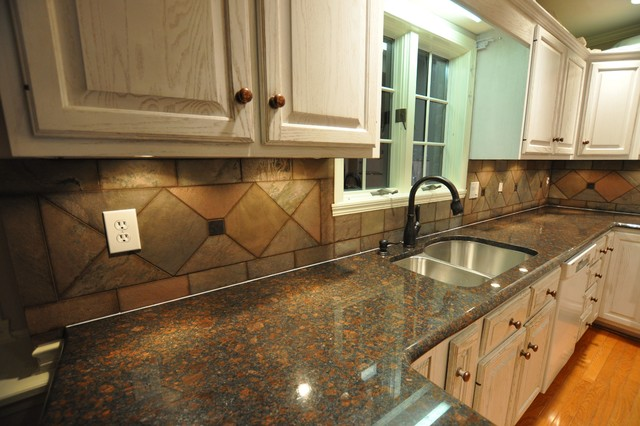 Granite Countertops and Tile Backsplash Ideas - Eclectic ... on Backsplash Ideas For Granite Countertops  id=22408