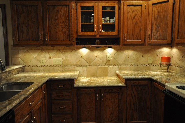 Granite Countertops and Tile Backsplash Ideas - Eclectic ... on Backsplash Ideas For Granite Countertops  id=35844