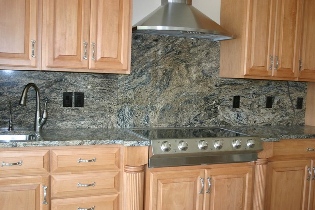 Granite Countertops And Tile Backsplash Ideas Eclectic Kitchen. Kitchen ...