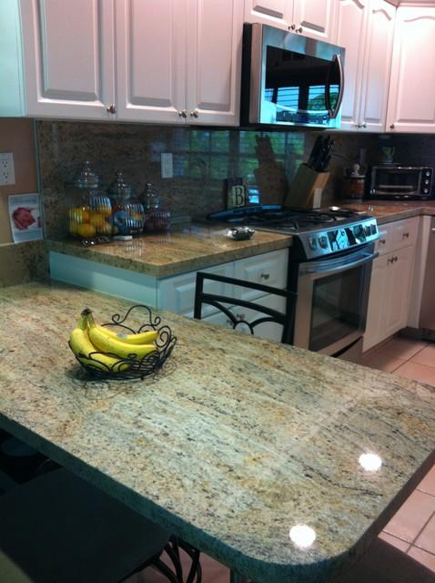 granite kitchen counter traditional kitchen miami