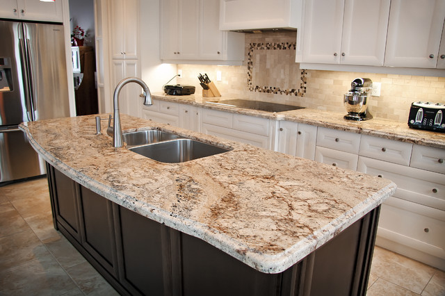 Charming Granite Quartzite Marble Quartz Countertops Traditional Kitchen