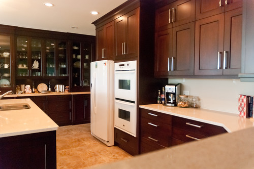 Kitchen Design With White Appliances white tile floor with white appliances ..small u shaped kitchen idea.?