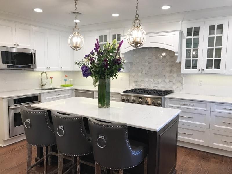 Gray & White Kitchen - Transitional - Kitchen - New York ...