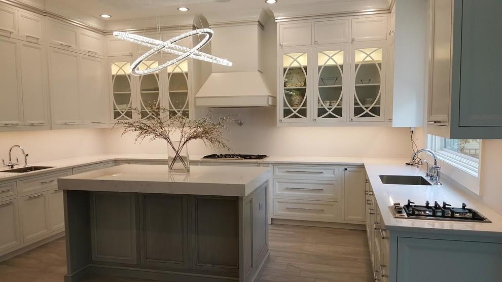 Gray & White Traditional Kitchen - Traditional - Kitchen ...