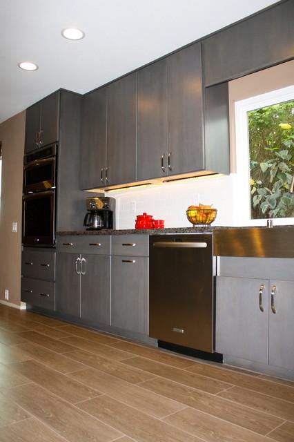Gray Floating Shelf Kitchen