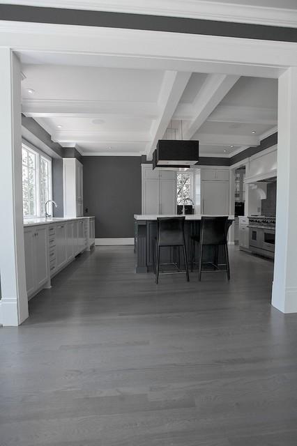 Gray kitchen Ansley Park Contemporary Kitchen Atlanta by Cabinets